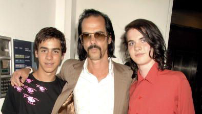 Nick Cave and his sons Luke and Jethro